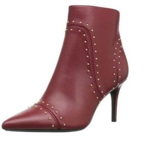 Calvin Klein booties Red Grazie Studded Pointed